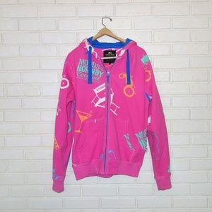 Moods of Norway Hot Pink Zip Hoodie